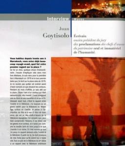 L'entretien de Juan Goytisolo, écrivain espagnol