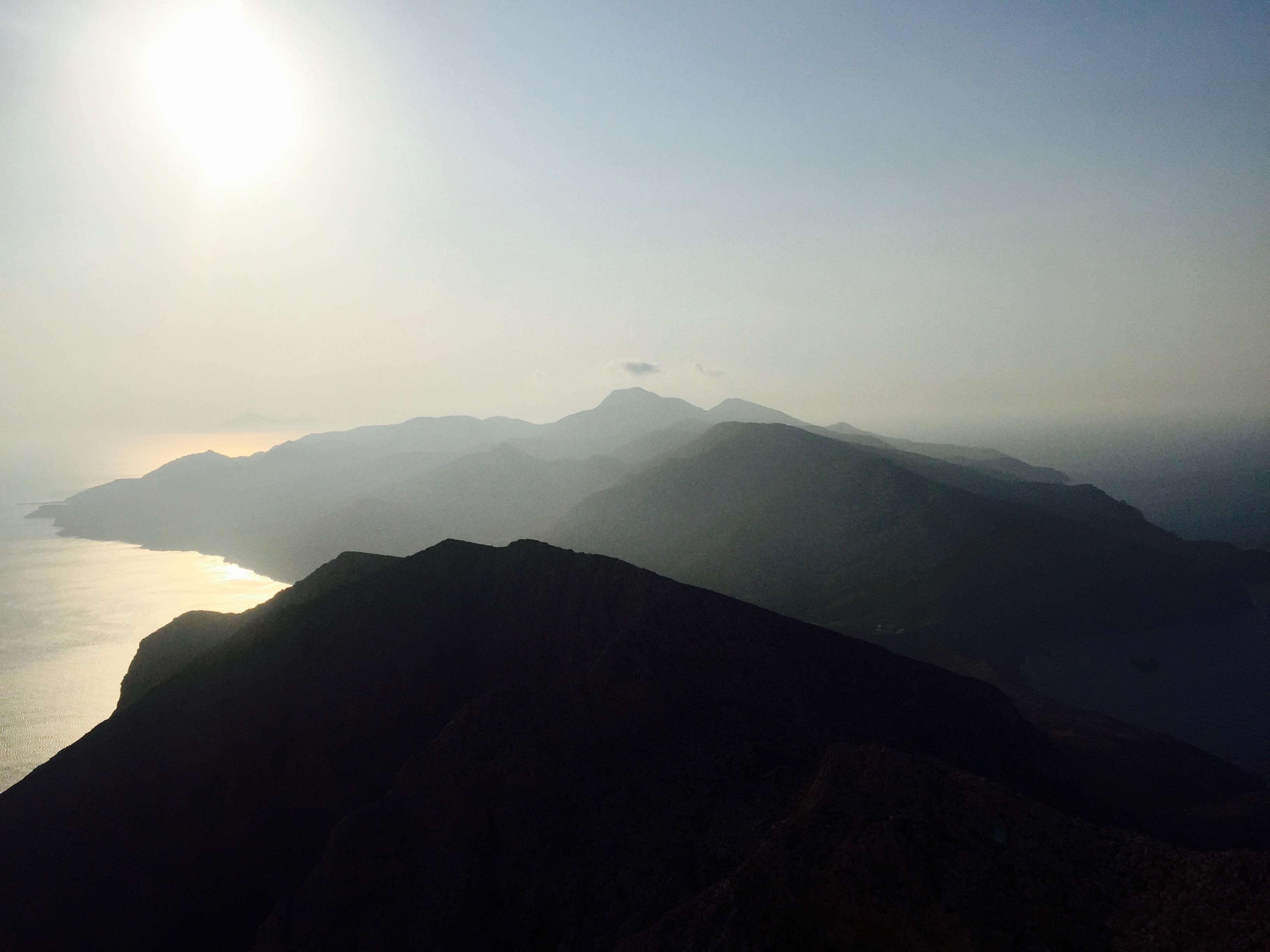 Anafi : vue depuis le mont Kalamos août 2017