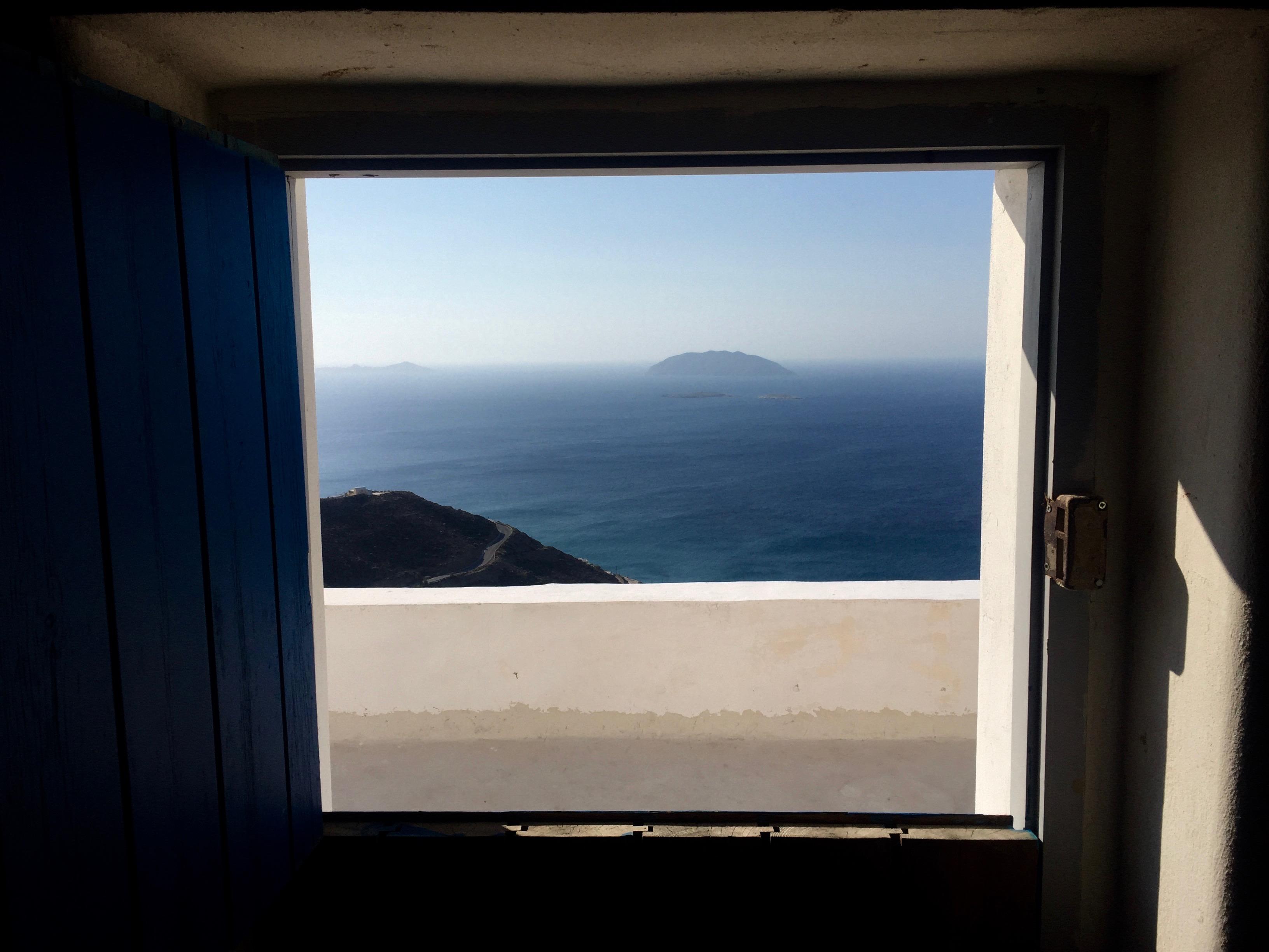 La petite île vue de la maison